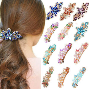 Women-039-s-Crystal-Barrette-Hair-Clips-Pins-Clamp-Claws-Hairpin-Hair-Accessories