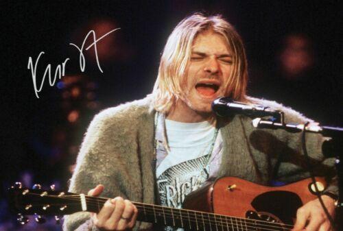 "Kurt Cobain Nirvana Band Music Signed Autograph PRINT 6x4/"" Gift"
