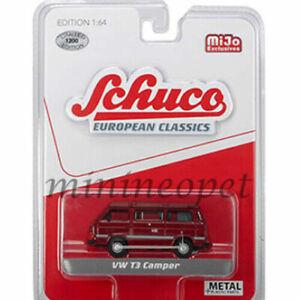 SCHUCO-9200-EUROPEAN-CLASSICS-VW-VOLKSWAGEN-T3-CAMPER-VAN-1-64-RED