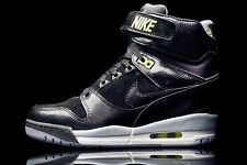 Nike Air Revolution Sky Hi Womens size 7 599410-012 Black/Magnet Grey/Volt