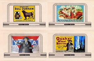 4-billboards-signs-N-or-Z-scale-92-inc-BULL-DURHAM-Quaker-Wheat-Berries