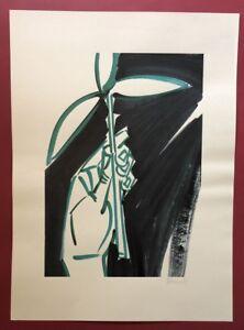 Bernhard Johannes Fiore, foglio 5, farbsieb pressione, 1985, firmata e datata