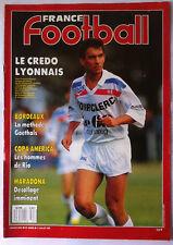 France Football 11/7/1989; Bordeaux et Goethals/ Copa America/ Maradona/ Lyon