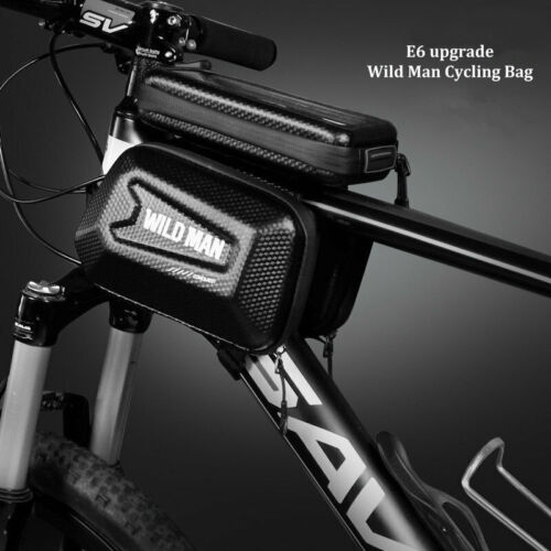 """WILD MAN Bicycle Bag Frame Front Top Tube Cycling Bag 6.2/"""" Phone Touch Screen"""