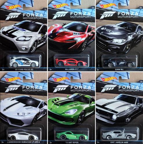 Forza Set 6 modellini di auto XBOX FORD BMW LAMBORGHINI VIPER 1:64 HOT WHEELS dwf30