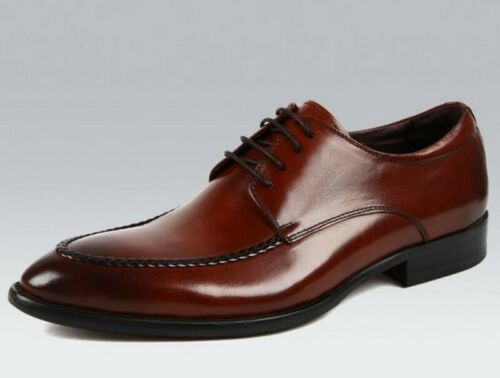 New Men Lace Up Oxfords Business British Low Top Pointy Toe Office Leather Shoes