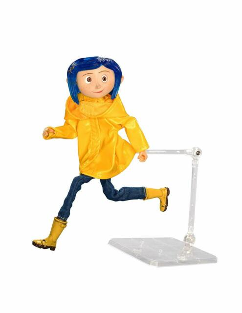 Coraline Articulated In Raincoat Coraline Movie Neca 18cm Figure For Sale Online Ebay