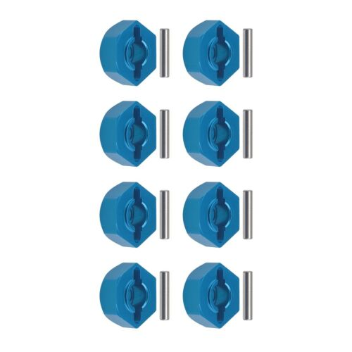 8Pcs Aluminum Alloy 12mm Hex Wheel Hubs Adapters with Pins Fit for 1//10 RC Car