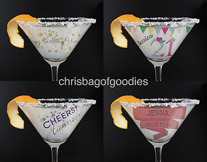 Image Is Loading PERSONALISED Birthday COCKTAIL GLASS For 18th 21st 30th