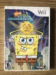 Spongebob-s-Atlantis-Squarepantis-Nintendo-Wii-Complete-W-box-amp-Manual
