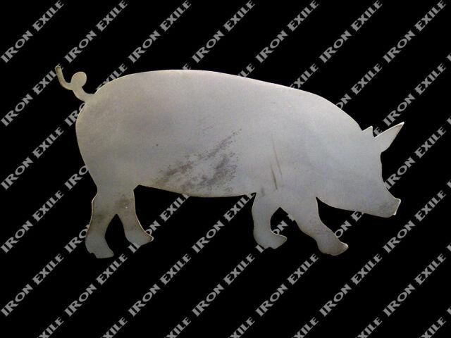 Pig Hog Metal Wall Art Bbq Smoker Ornament Decoration Sign Farm Kitchen Decor