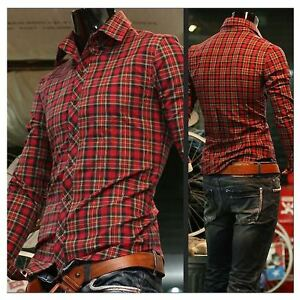 New-Mens-Slim-Luxury-Premium-Casual-Dress-Shirts-ST63