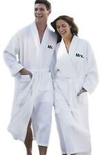Personalized Mr and Mrs Matching Embroidery Waffle Bathrobes Spa Robe Set