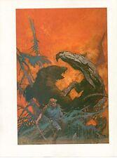 """1980 Full Color Plate /""""Flesh Eaters/"""" by Frank Frazetta Fantastic GGA"""