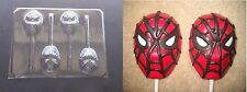 Spiderman Face Head Lollipop Chocolate Candy Soap Crayon Mold
