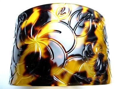 """Hawaiian Hawaii Jewelry Fake Turtle Shell Bracelet Bangle ~ 1.75/"""" Wide# 22304-31"""