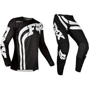 Jovenes Ninos 180 Fox Racing Motocross Mx Kit Pantalones Jersey Cota Negro Ebay