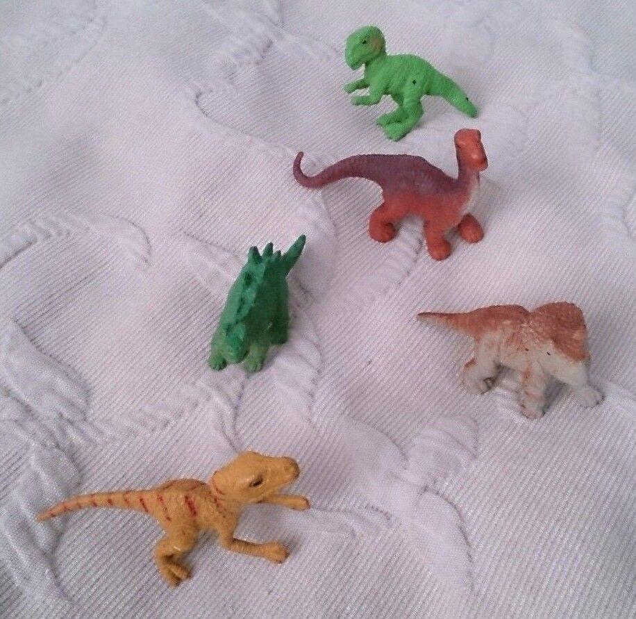 Lot 5 Dinosaurs TRex Safari Ltd Prehistoric Animals Play Toys RUBBER Figures