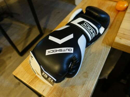 OUTSHOCK BEGINNER LEATHER BOXING MUAY THAI KICK BOXING GLOVES