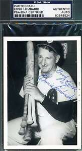 Ernie-Lombardi-Psa-dna-Hand-Signed-Photo-Authentic-Autograph