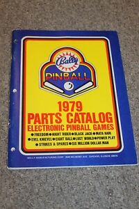 on feet at best loved outlet boutique Details about 1979 Bally Pinball Parts Catalog Electronic Game Manual,  Factory ORIGINAL
