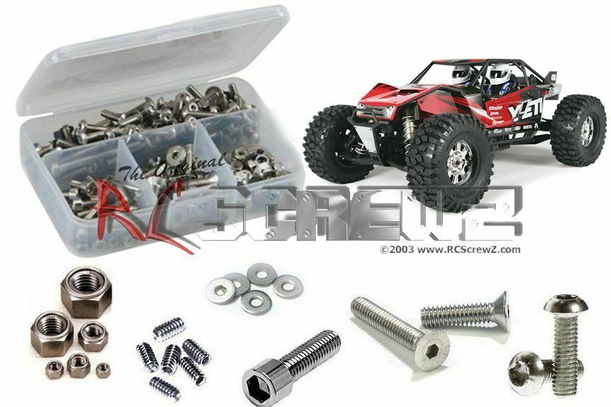 Axial Yeti XL 4WD RTR Stainless Steel Screw Set by RC Screwz  RCZAXI017