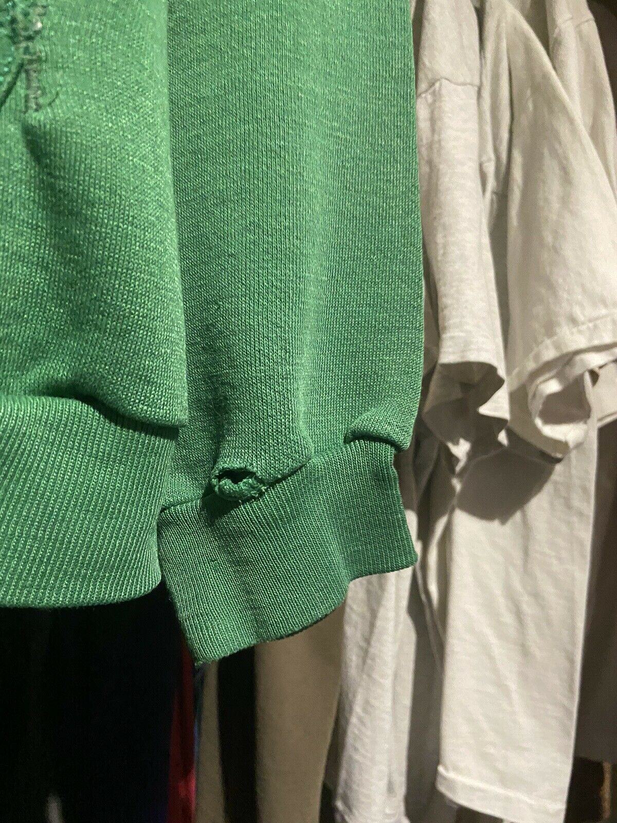 Vintage 70s Russell Athletic Green Pullover Hoodi… - image 7