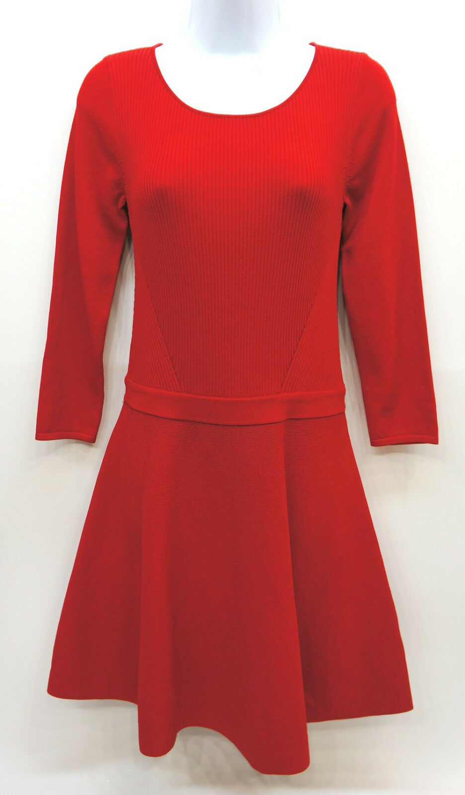 Lauren Ralph Lauren Red A-Line Flare Sweater Dress Women's Medium