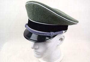 WWII WW2 GERMAN ELITE INFANTRY OFFICERS ARMY WOOL VISOR CAP HAT ... b1aab9a899e6