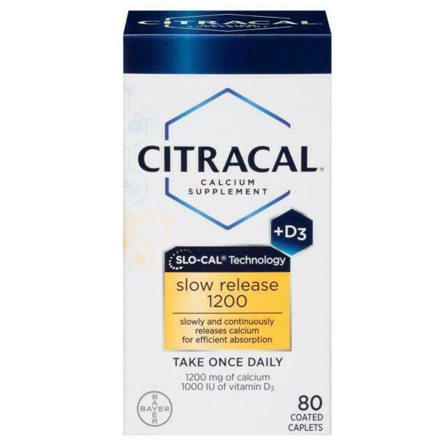 Citracal Calcium Citrate Vitamin D3 Slow Release 1200mg, 80
