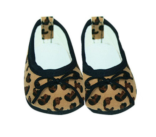 Tan and Black Animal Print  Slip on  Shoes Fits 18 inch American Girl Dolls