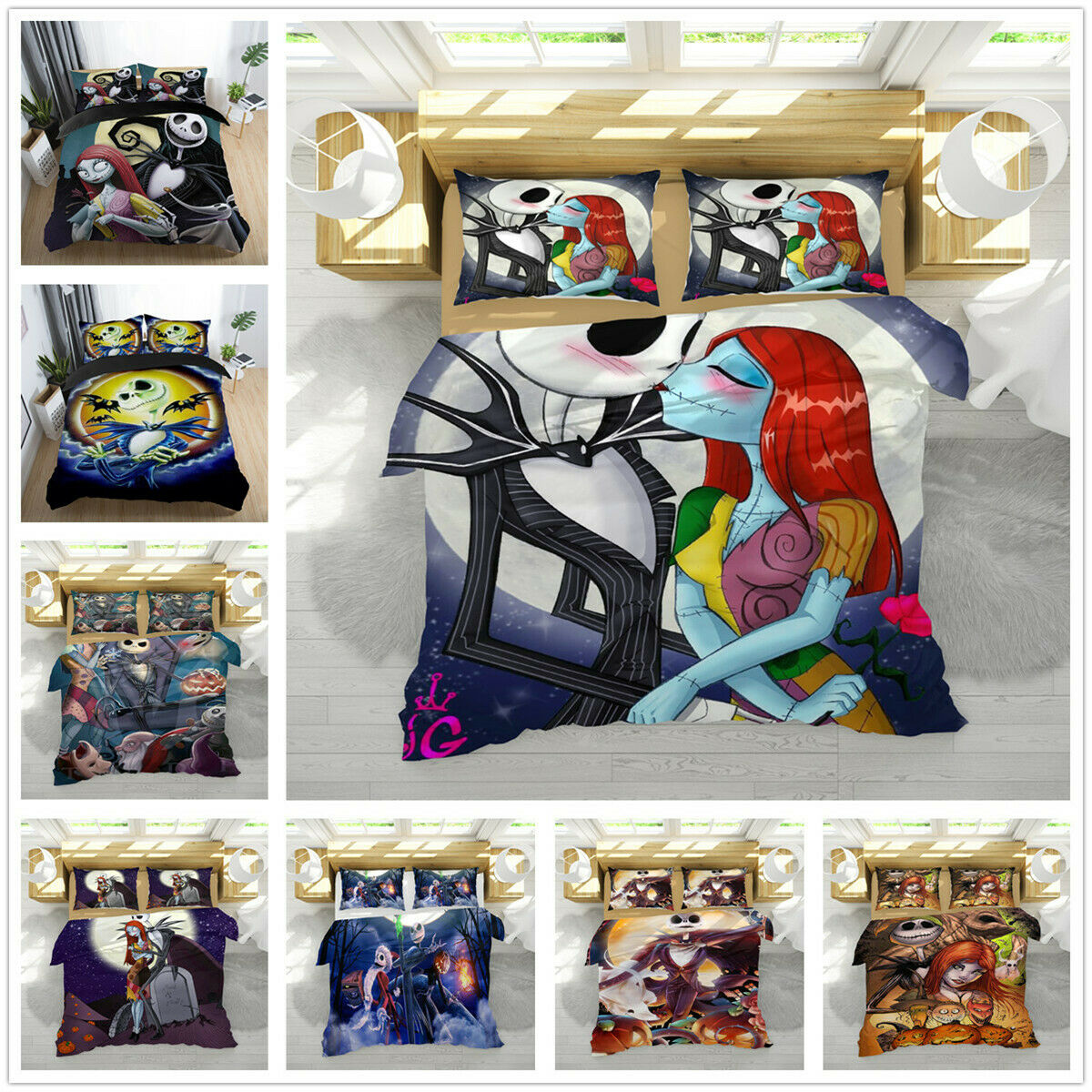 3D The Nightmare Before Christmas Bedding Set Quilt Duvet Doona Cover Pillowcase