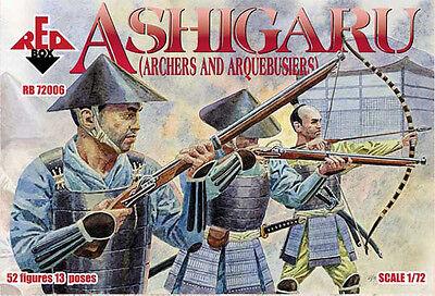 RedBox soldatini 1//72 Arcieri archibugieri Giappone medioevo Ashigaru Archers