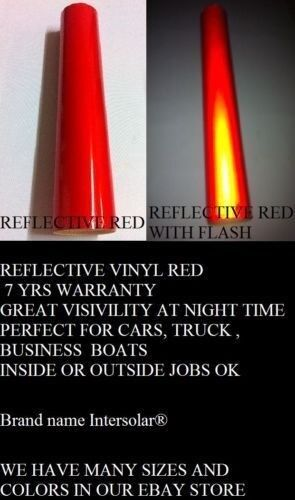 """24/"""" x 75  ft  RED  Reflective Vinyl Adhesive Cutter Sign Special Price Deal"""