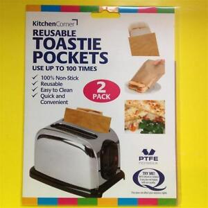 2x New Reusable Toastabags Toastie Toaster Bags Pockets Ebay