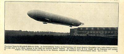 """Luftfahrt & Zeppelin Transport Logical Probefahrten Zeppelin-luftschiffe """"viktoria Luise"""" In Friedrichshafen Von 1912 High Quality Goods"""