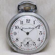 1910 Hampden 21 Jewel RAILROAD Grade No. 105 Pocket Watch Montgomery Dial 16s