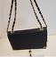 thumbnail 11 - Bebe Black Crossbody Purse Gold Hardware Handbag
