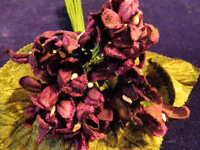Millinery Flower Velvet Violet Bouquet Wine Lot Hat Wedding And Hair Y4