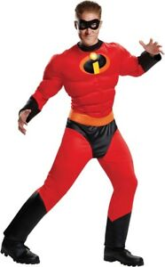 Mr-Incredible-Muscle-Deluxe-Adult-Men-039-s-Costume-Jumpsuit-The-Incredibles