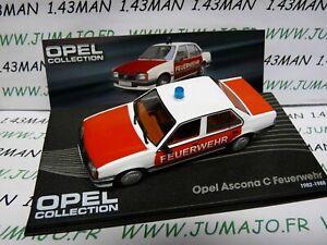 OPE66R-voiture-1-43-IXO-OPEL-collection-ASCONA-C-feuerwehr-pompier-1982-1988