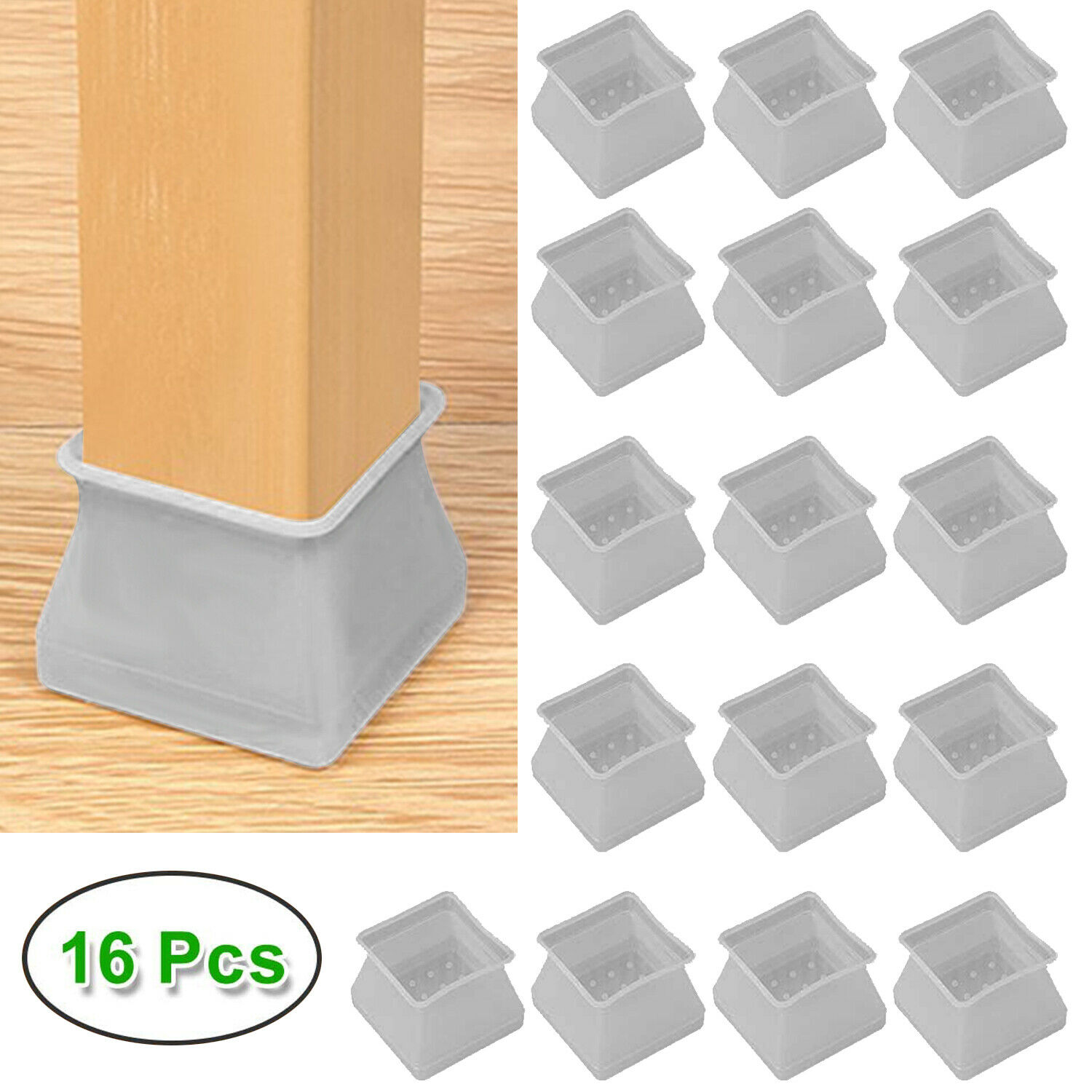 Silicone Chair Leg Caps Feet Pads Furniture Table Covers Floor Protectors