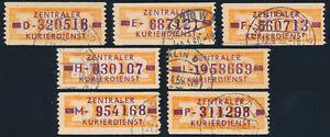 DDR-Dienst-B-22-Lot-7-Stueck-verschiedene-Buchstaben-gestempelt-Mi-97