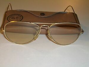 f6108a1df9 VINTAGE B L RAY BAN GP BROWN CHANGEABLES UV WRAP-AROUNDS AVIATOR ...