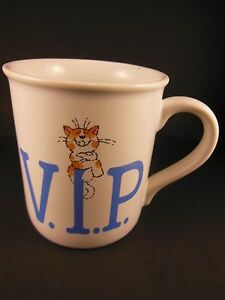 Hallmark-smile-Mugs-Mug-Cup-VIP-Very-Indispensable-Person-1985-Taiwan-Vintage
