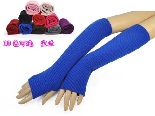 Mongolian Wool Women Woman Fingerless Gloves Arm Mitten Elbow Opera Long