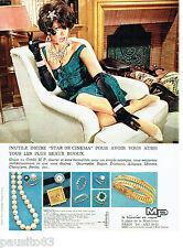 PUBLICITE ADVERTISING 086  1964  M.P  bijoutier en vogue montres colliers bagues