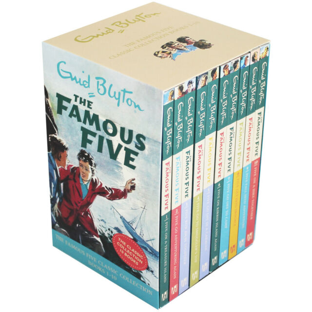 NEW The Famous Five Books 1-10 Classic Books Gift Box Collection by Enid Blyton!