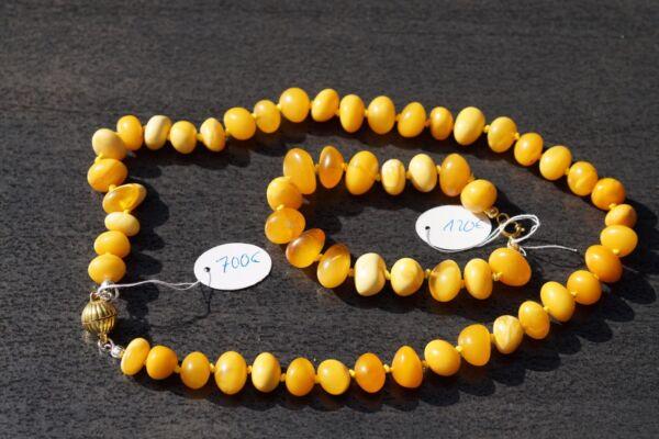 Gerade Antike 老琥珀 Bernstein Kette Collier NatÜr Amber Necklace Butterscotch Halskette