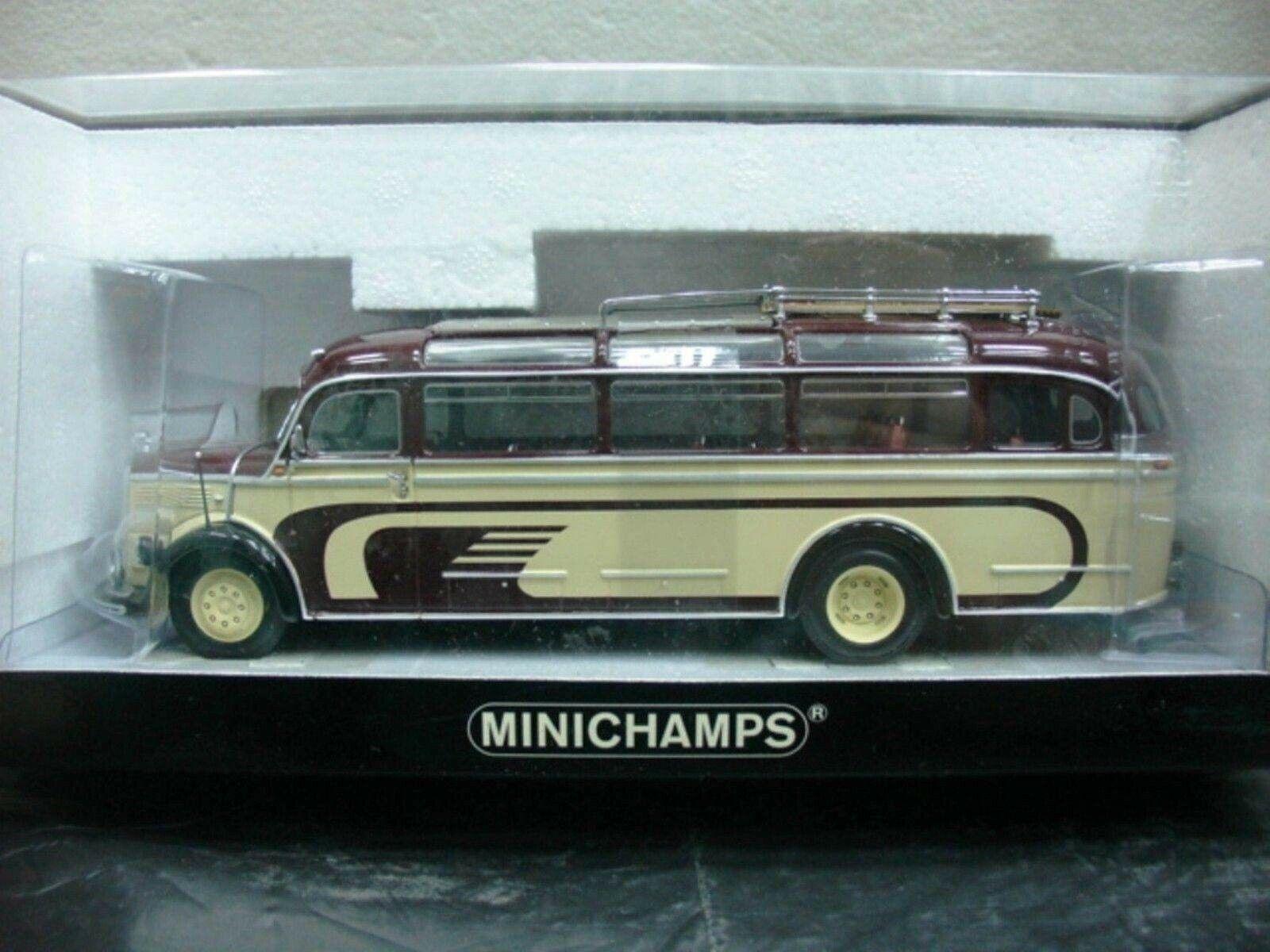 Wow extremadonnate raro Mercedes o bus 3500 Marrone Crema 1 43 Minichamps - 302 317 321